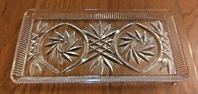 Crystal Clear – Handcut 24% Lead Crystal Cut Glass Serving Tray – Pinwheel Style