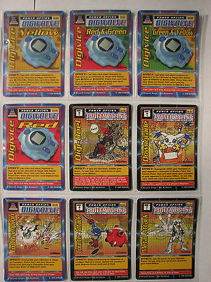 Digimon 1st edition St lot of 9 Bandai 1999