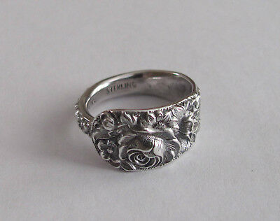 Sterling Silver Spoon Ring - S. Kirk & Son Inc. / Repoussé - 7 1/2 - 1924 to 32