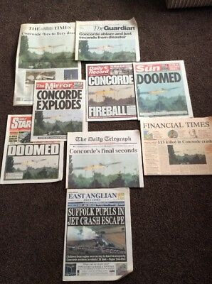 Job Lot Of Concorde Accident Newspaper Reports