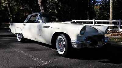 1957 Ford Thunderbird  1957 Ford Thunderbird Convertible, Colonial White w/ Flame Red interior