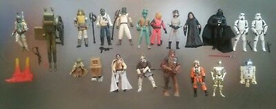 Star Wars figure Collection with Sail Barge Cannon 18 figures inc Boba Fett Yoda