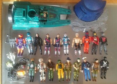 Action Force/GI Joe vintage collection of 20 figures plus vehicles & Accessories