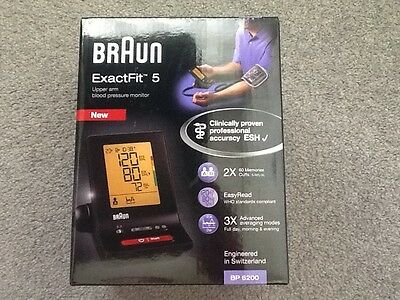 Brand new, boxed and sealed. Braun ExactFit 5 Blood pressure monitor.