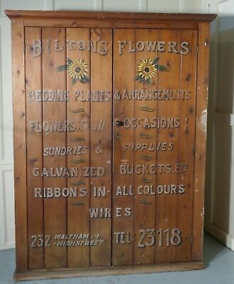 Victorian Painted Cupboard, Florist Flower Shop Supplies, Waltham London