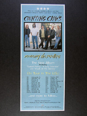1997 Counting Crows band photo Recovering the Satellites promo vintage print Ad