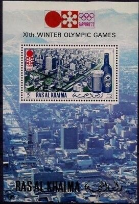 Ras Al Khaima 1972 Sapporo Winter Olympics Building Beer Drink View Japan m/s NH