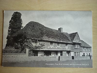 Picture Postcard, The Mint House. Pevensey, Sussex, Unused.