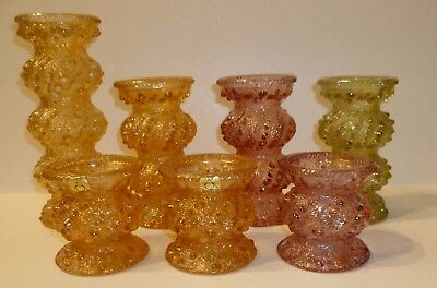 Collection of Carnival Glass Cascade Vases - Oberglas, Austria