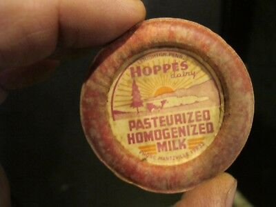 Hoppes Lehighton Dairy Farm  Pa Vintage Milk Bottle Cap