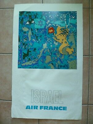 Affiche Air France Raymond Pages (Israel)L)