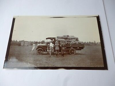 Old Vintage Real Photo - FAR EAST - WW1 - BRITISH MILITARY -  With Truck