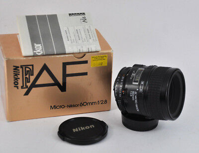 Nikon AF Micro Nikkor 60mm F2.8  Macro Prime Lens made in Japan uk seller boxed