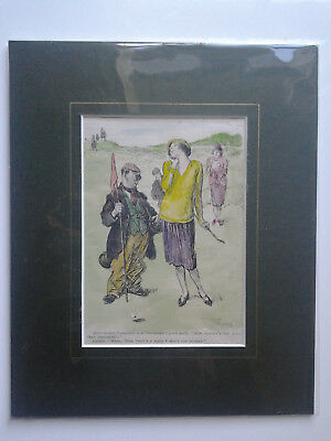 Original 1925 Punch Golf Print