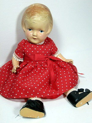 "Antique 1930 ARRANBEE 12"" NANCY DOLL Original Clothes Patsy Type"