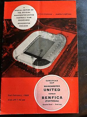 MANCHESTER UNITED v BENFICA 1965-66 EUROPEAN CUP