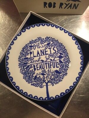 Four 4 Rob Ryan Crockery four trees four seasons plate set 2010 collectable