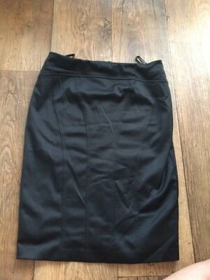 Woman's Warehouse Black Lined  Smart Skirt Size 10