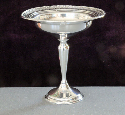 Antique Sterling Silver Hollowware Footed Compote Candy Dish