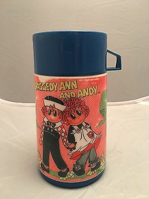 Vintage Raggedy Ann And Andy Thermos,1973 Aladdin.Nice Condition.227ml.Cup & Cap
