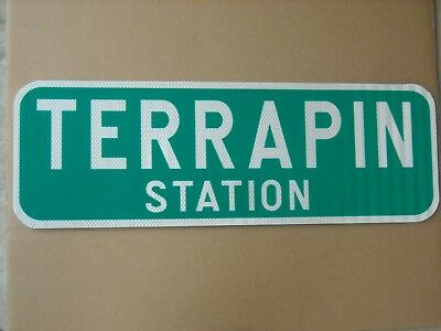 GREATFUL DEAD- TERRAPIN STATION REAL REFLECTIVE STREET SIGN .080 thick aluminum