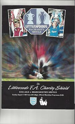 Chelsea v Manchester United Charity Shield 1997 Football Programme