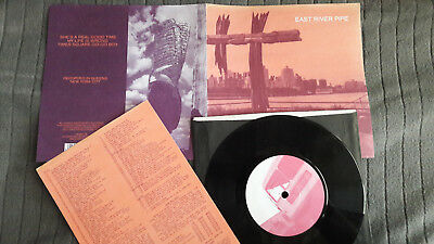 """EAST RIVER PIPE She's A Real... UK Sarah 7"""" foldover sleeve +insert vinyl record"""