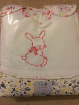Brand New Bunny Sleeping Bag & 2 Swaddles In Pack For Baby Girl Pink 0-6 Months