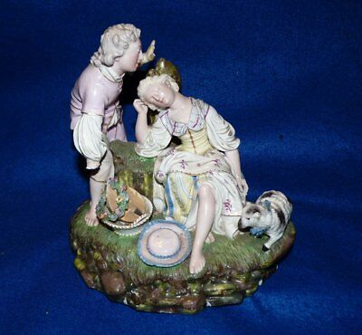 Höchst / Hochst porcelain figural group – German 18th century – RARE – A/F