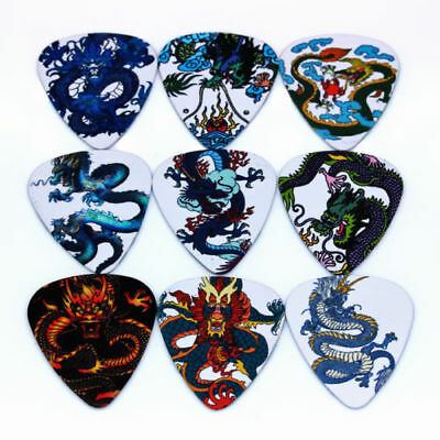 Assorted Dragon Guitar Picks Lot of 10 .46 mm US Seller Thin Free Tracking New