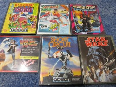 Amstrad CPC 464, 6128 Various Games, Short Circuit etc ALL TESTED
