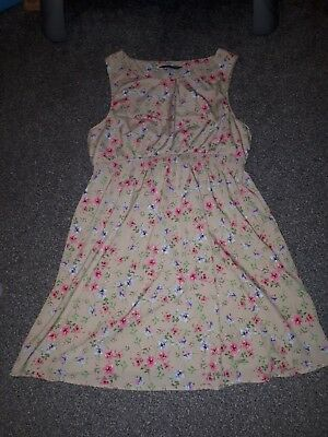 new look beige with pink flowers maternity dress size 18
