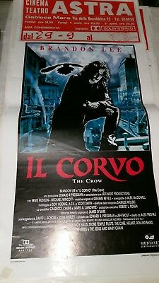 Locandina Poster Cinema Teatro Astra  Il Corvo the Crow Brandon Lee 1994