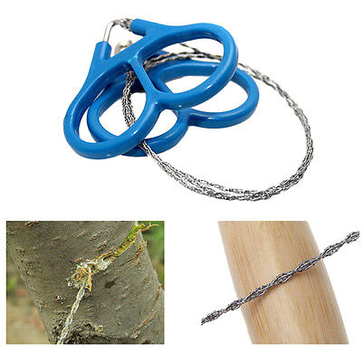 Great Steel Wire Saw Outdoor Scroll Travel Camping Hiking Hunting Survival ToolX