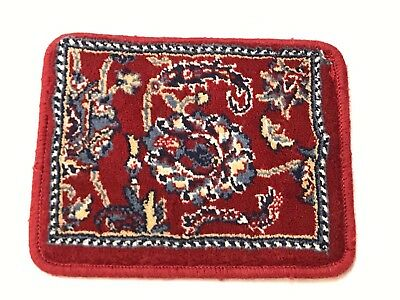 "Salesman Sample Oriental Dollhouse Miniature Wool Rug 8""x10"" RED Antique Carpet"