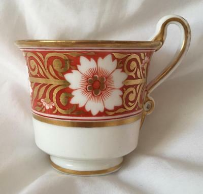 ANTIQUE 19thC GEORGIAN SPODE HAND PAINTED PORCELAIN CUP 1820s SNAKE HANDLE