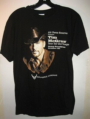 11-13-2013 Tim McGraw Air Force Reserve Camp Pendleton Concert Shirt For Troops