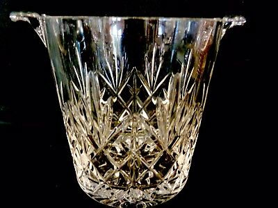 "Edinburgh  International Crystal Ice Bucket 5 1/4"" X 5"" Very Good Condition"