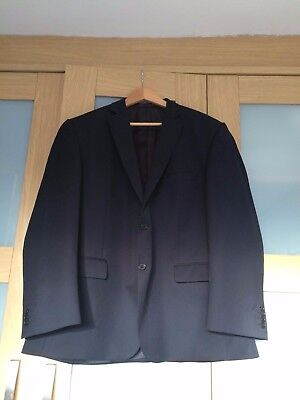 Racing Green-Classic Tailored Dark Navy Wool Blend Suit - 2 piece/2 buttoned