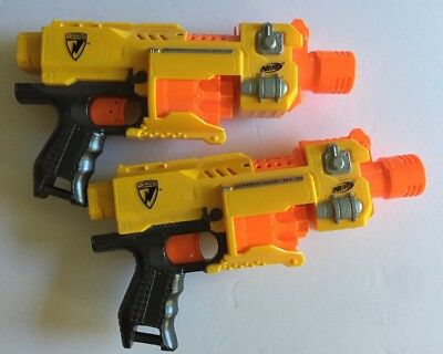 Nerf N-Strike Barricade RV-10 Automatic Motorized Dart Gun lot of 2, No Darts
