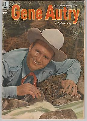 Gene Autry #80 Dell Western Cowboy comic October 1953 Photo Cover VG
