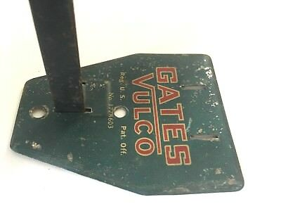 Vintage Gates Vulco Fan Belt Rack Metal Display Gas Station Sign Oil Advertising