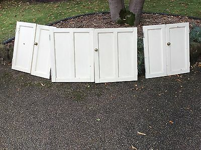 6 Solid Wood Cupboard Doors Vintage Traditionally Crafted