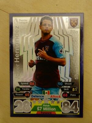 Topps Match Attax 2017/18 SILVER Limited Edition JAVIER HERNANDEZ LE7S