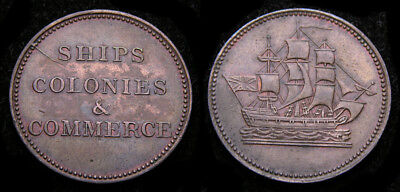 Tokens of Prince Edward Island Halfpenny Double H Mintmark Ampersand BR-997 AU