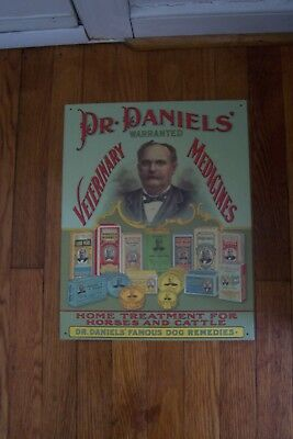 Collectible Dr.daniels Veterinary Medicines Metal Sign