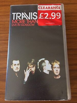 Travis : More Than Us Live in Glasgow VHS Video Cassette  (2001)