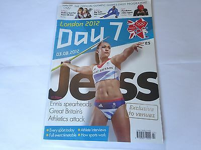 London 2012 Olympic Games Official Daily Programme Day 7 (Day Seven)