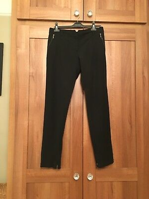 Black Slim Fit Ladies Trousers From Reiss In A Size 12