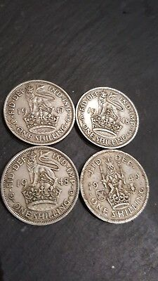 one shilling coins
